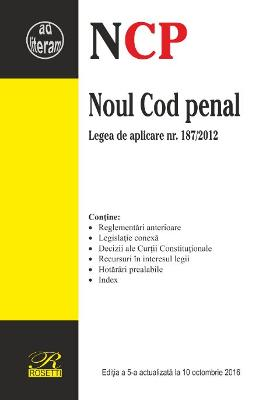 Noul Cod penal. Act. 10 Octombrie 2016