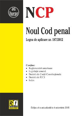 Noul Cod Penal Act. 4 Octombrie 2015