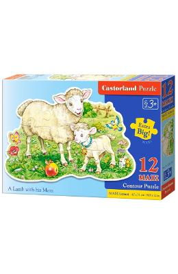 Puzzle 12 Maxi - A Lamb with his Mom