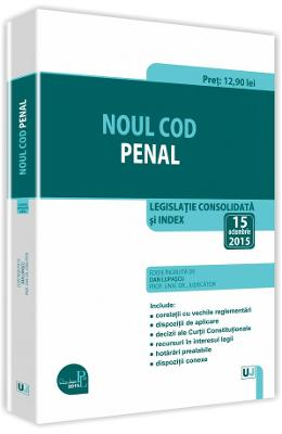 Noul Cod penal act. 15 octombrie 2015