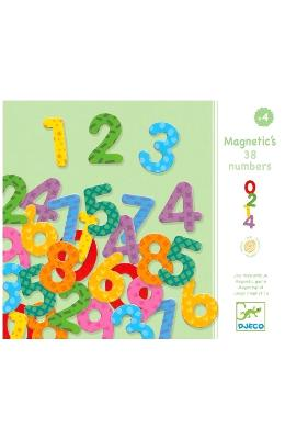 Magnetic's 38 numbers. Cifre magnetice