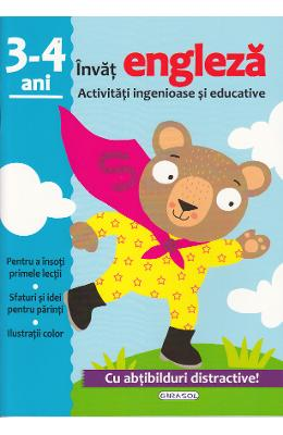 Activitati ingenioase si educative: Invat engleza 3-4 ani
