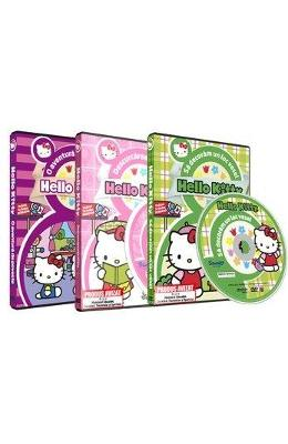 Box 3 DVD Hello Kitty - O aventura de poveste + Sa decoram un loc vesel + Descurcareata Kitty