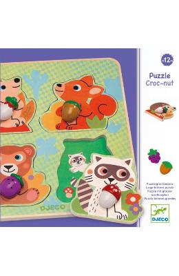 Puzzle Croc-nut. Animale din padure