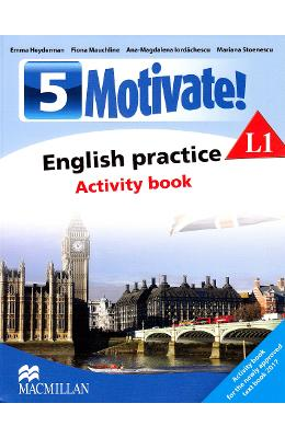 Motivate! English practice L1. Activity book. Lectia de engleza – Clasa 5 – Emma Heyderman de la libris.ro