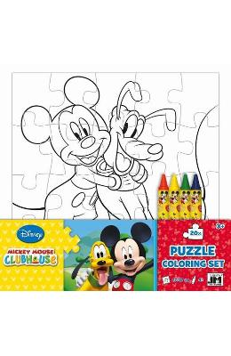 Disney Mickey Mouse Clubhouse, Puzzle coloring set. Puzzle de colorat