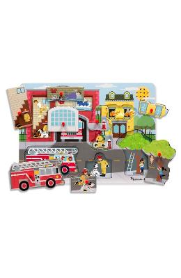 Sound Puzzle  Around The Fire Station. Puzzle Cu S